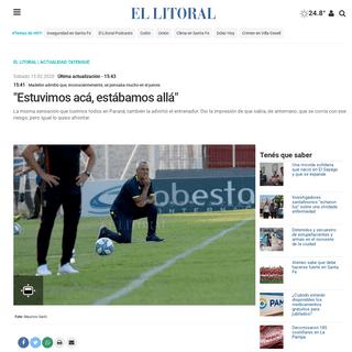 -Estuvimos acá, estábamos allá- - - El Litoral - Noticias - Santa Fe - Argentina - ellitoral.com - -