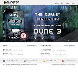 Synapse Audio Software - VST Synthesizers - DUNE 3