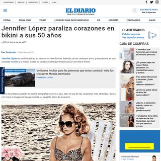 Jennifer López paraliza corazones en bikini a sus 50 años - El Diario NY