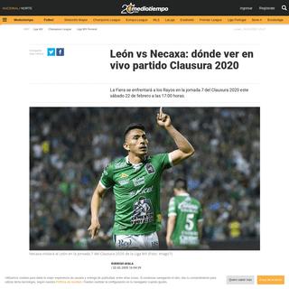 León vs Necaxa- dónde ver en vivo partido Clausura 2020 - Mediotiempo