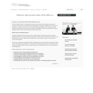 ArchiveBay.com - debriefing.com - Debriefing