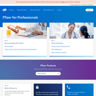 Home - Pfizer for Professionals