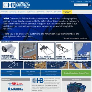 ArchiveBay.com - h-b.com - Hohmann & Barnard by MiTek, We Anchor the World!