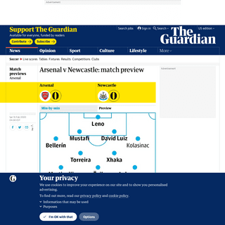 Arsenal v Newcastle- match preview - Football - The Guardian