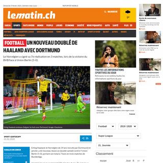 Football - Un nouveau doublé de Haaland avec Dortmund - News Sports- Football - lematin.ch