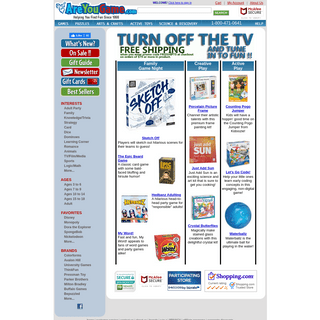 AreYouGame.com- Board Games, Jigsaw Puzzles, Puzzles, Kids Games, Adult Party Games