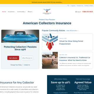 American Collectors Insurance - Classic Car Insurance