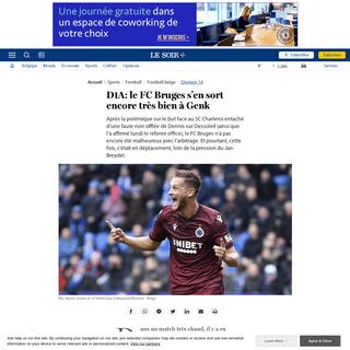 D1A- le FC Bruges s'en sort encore très bien à Genk - Le Soir Plus