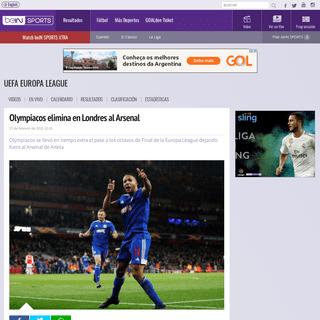 Olympiacos elimina en Londres al Arsenal