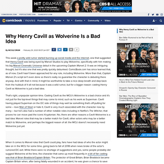 ArchiveBay.com - comicbook.com/movies/2020/02/29/marvel-henry-cavill-wolverine-bad-idea-mcu/ - Why Henry Cavill as Wolverine Is a Bad Idea