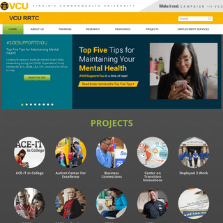 Rehabilitation Research and Training Centers - VCU