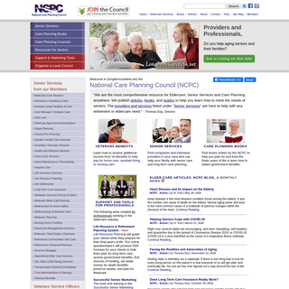 Long Term Care, Senior Services, and Eldercare Resources - National Care Planning Council
