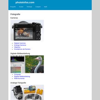 photoinfos.com Fotografie Kameras Teleskope Mikroskope Scanner tests reviews