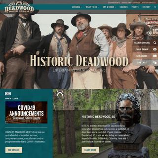 Historic Deadwood - History, Gaming - Black Hills, South Dakota
