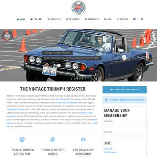Triumph Club – Vintage Triumph Register – Website for all things Triumph