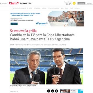 Cambio en la TV para la Copa Libertadores- habrá una nueva pantalla en Argentina - Clarín