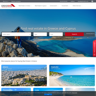 Real Estate in Greece, apartment, house, purchase real estate in Greece from developers. Prices 2020 - Grekodom