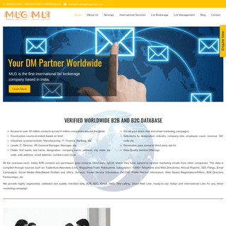 India's largest Mailing Lists B2B and B2C Database Company