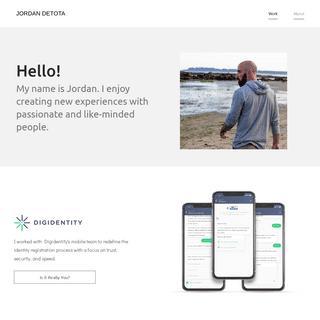 Jordan Detota – Product Design Portfolio