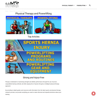 Physical Therapy and Powerlifting - Physiqz