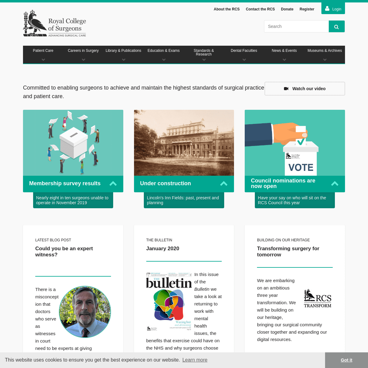 ArchiveBay.com - rcseng.ac.uk - The Royal College of Surgeons- committed to enabling surgeons to achieve and maintain the highest standards of surgical practice