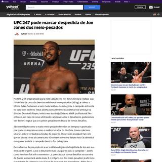 UFC 247 pode marcar despedida de Jon Jones dos meio-pesados