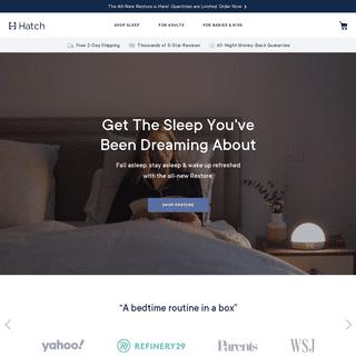 Better Sleep for Everyone - Hatch