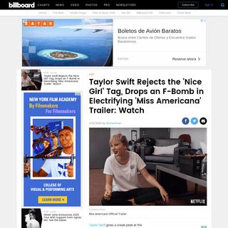 Taylor Swift's 'Miss Americana' Trailer- Watch - Billboard