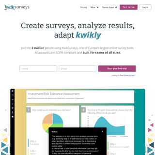KwikSurveys - Online Survey Maker (GDPR compliant, 3 million users)