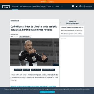 Corinthians x Inter de Limeira- onde assistir, escalação, horário e as últimas notícias - Goal.com