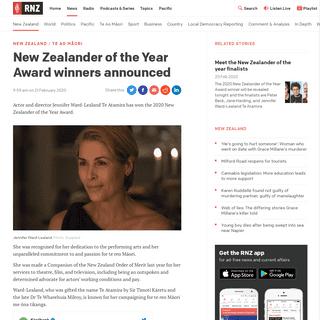 New Zealander of the Year Award winners announced - RNZ News