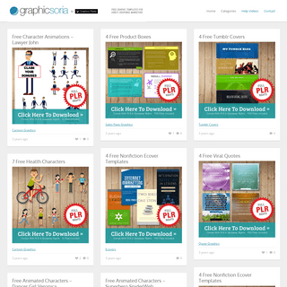Graphicsoria -- Free Graphic Templates For Direct-Response Marketers