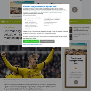 ArchiveBay.com - www.rtp.pt/noticias/futebol-internacional/dortmund-iguala-provisoriamente-o-leipzig-em-segundo-moenchengladbach-escorrega_d1207098 - Dortmund iguala provisoriamente o Leipzig em segundo, Moenchengladbach escorrega
