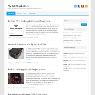 my GettoWEB.DE - rund um Computer, Internet, Linux, Haus, Amateurfunk & der tägliche Wahnsinn