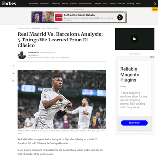 Real Madrid Vs. Barcelona Analysis- 5 Things We Learned From El Clásico