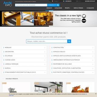 ArchiExpo - Le salon online de l'architecture - cuisine, salle de bain, éclairage, mobilier, bureau...