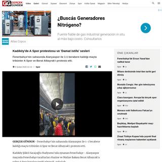 Kadıköy'de A Spor protestosu ve 'Damat istifa' sesleri - Gerçek Gündem