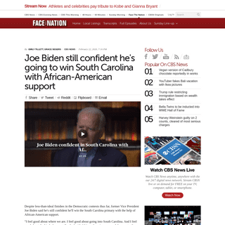 ArchiveBay.com - www.cbsnews.com/news/joe-biden-still-confident-hes-going-to-take-south-carolina-with-african-american-support/ - Joe Biden still confident he's going to win South Carolina with African-American support - CBS News