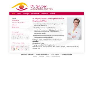 Dr. Irmgard Gruber - Augenärztin 1040 Wien Nähe Hauptbahnhof
