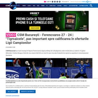 Video - CSM București - Ferencvaros 27 - 24 - -Tigroaicele-, pas important spre calificarea în sferturile Ligii Campionilor