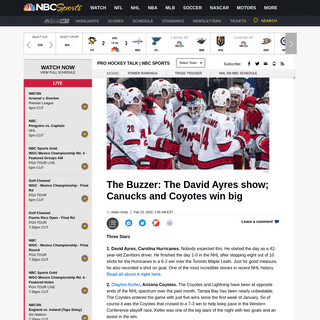 ArchiveBay.com - nhl.nbcsports.com/2020/02/23/nhl-scores-the-buzzer-carolina-hurricanes-david-ayres/ - NHL Scores- David Ayres leads Hurricanes over Maple Leafs