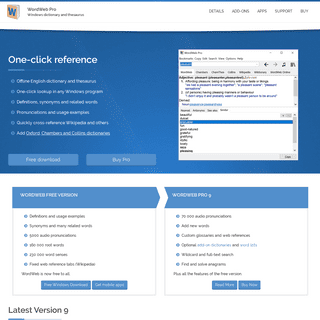 ArchiveBay.com - wordweb.info - WordWeb- English dictionary, thesaurus, and word finder software.