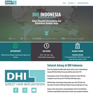 DHI Indonesia – Klinik Penanaman, Restorasi dan Perawatan Rambut Indonesia