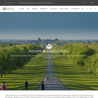 Welcome to Windsor Great Park - Windsor Great Park