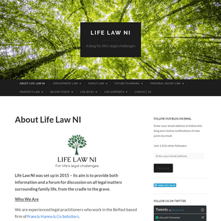 Life Law NI - A blog for life's legal challenges
