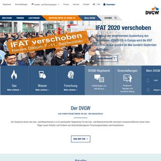 DVGW- DVGW - Deutscher Verein des Gas- und Wasserfaches