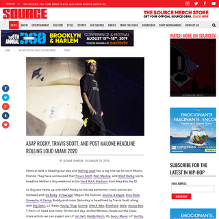 ASAP Rocky, Travis Scott, and Post Malone Headline Rolling Loud Miami 2020