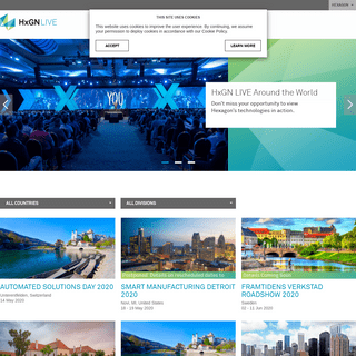HxGN LIVE Around the World - Hexagon's event series that provides a comprehensive view of Hexagon's technologies - HxGN LIVE