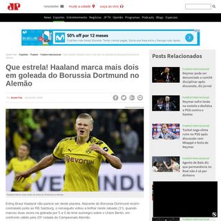 Que estrela! Haaland marca mais dois em goleada do Borussia Dortmund no Alemão - Jovem Pan