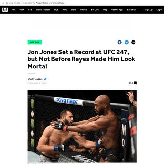 Jon Jones Set a Record at UFC 247, but Not Before Reyes Made Him Look Mortal - Bleacher Report - Latest News, Videos and Highlig